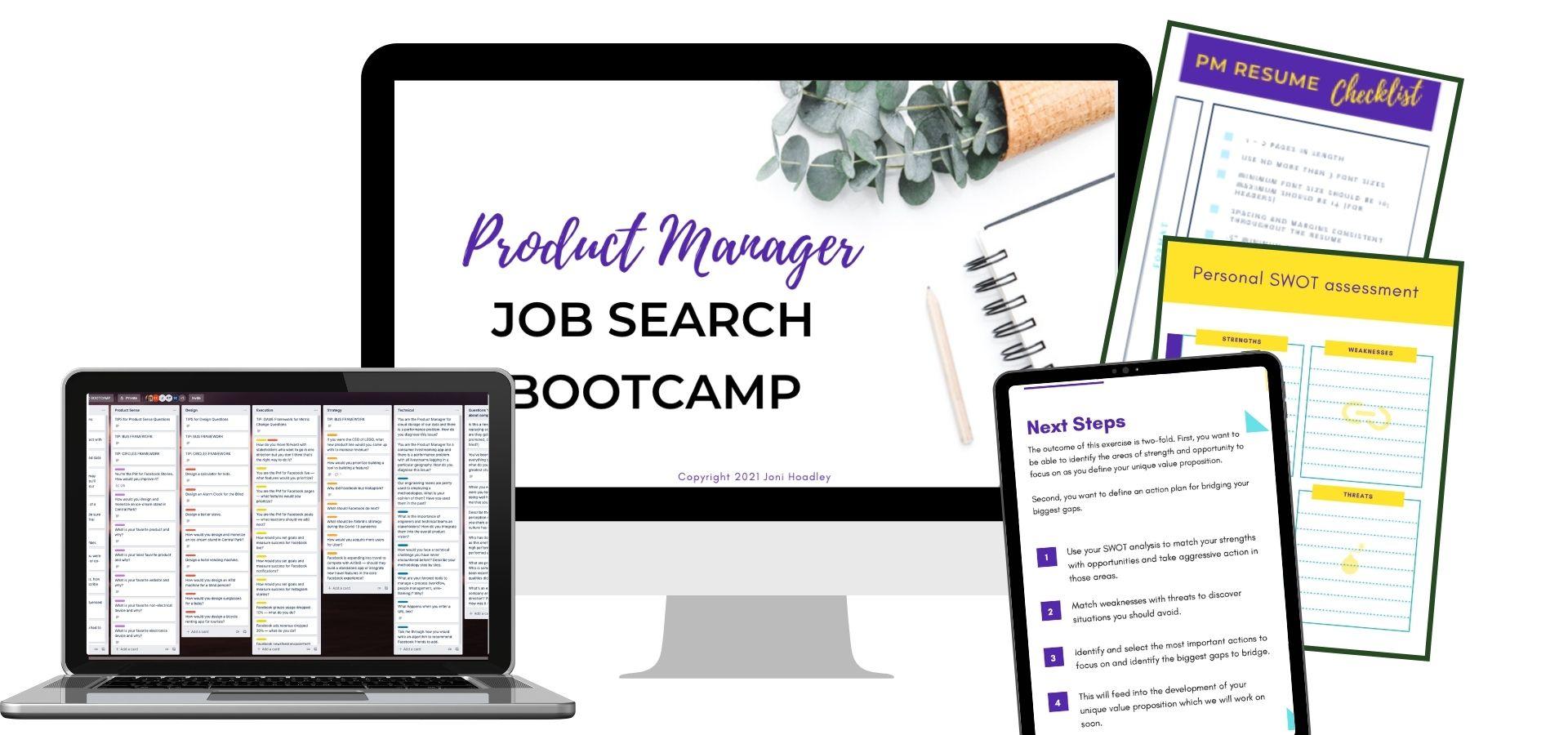 PM Job Search Bootcamp Bonus Bundle